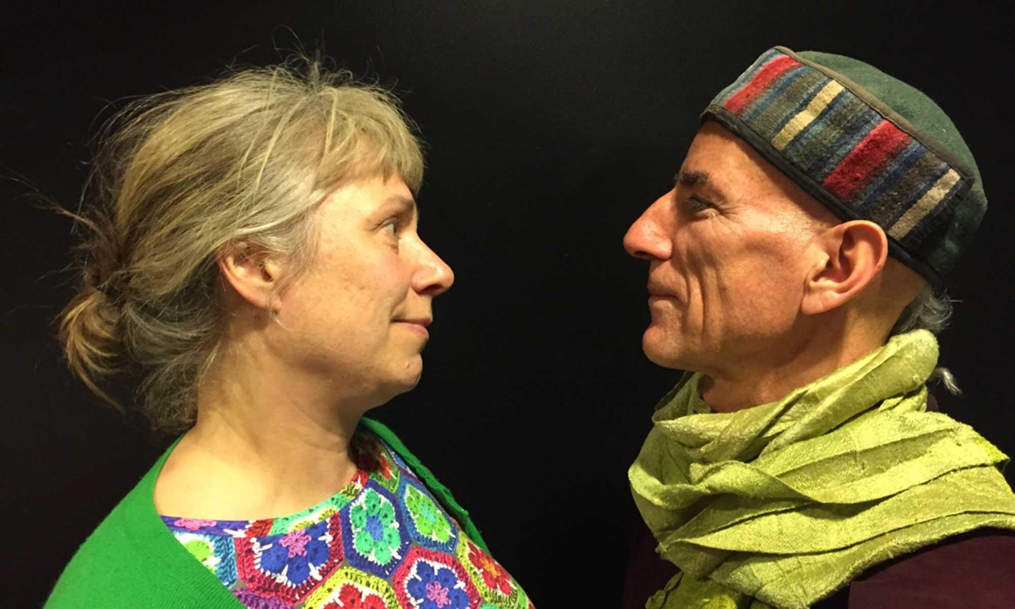 Pel Rostam och Stina Wollter